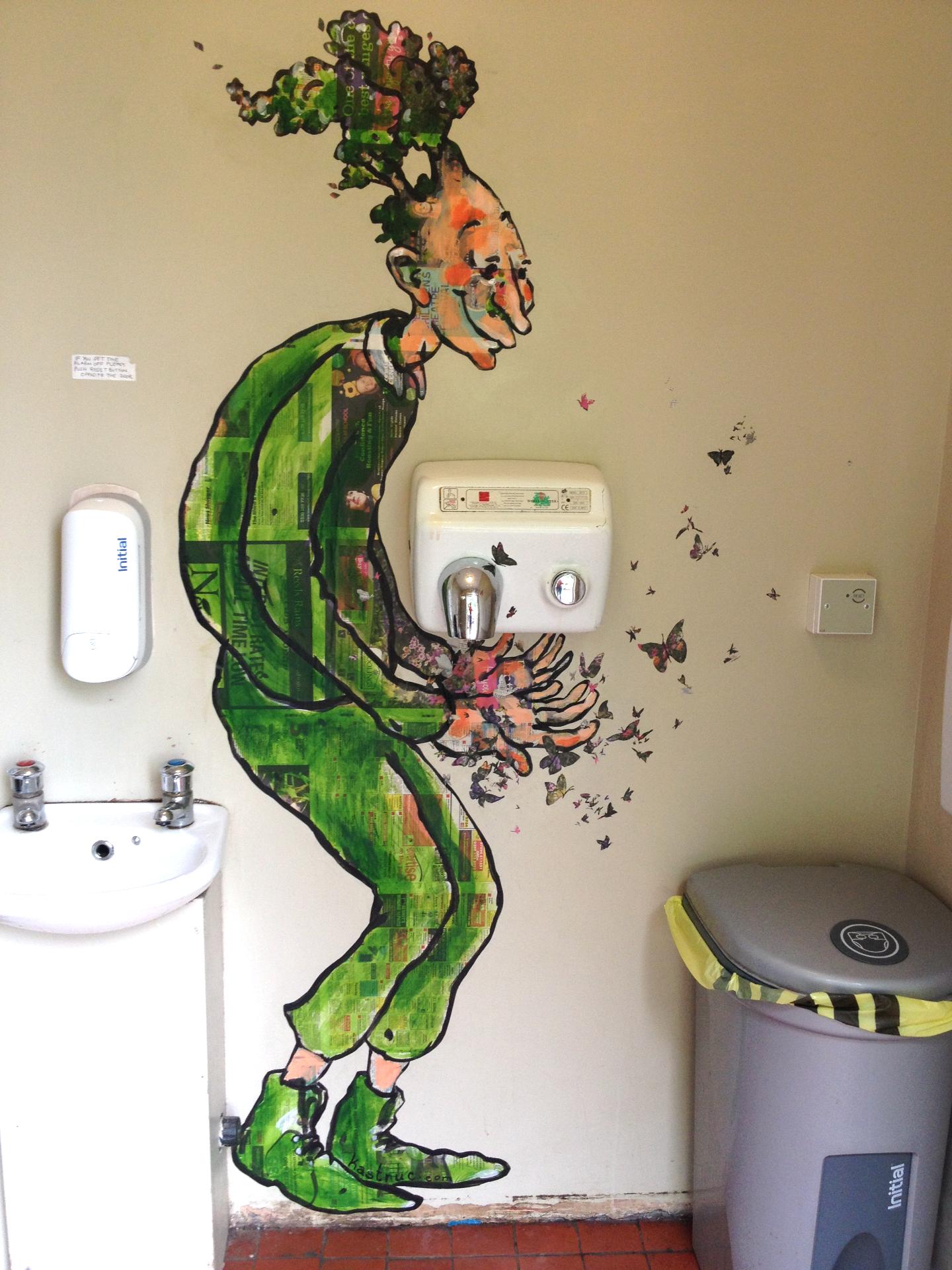 Pistachios Cafe Toilet Mural
