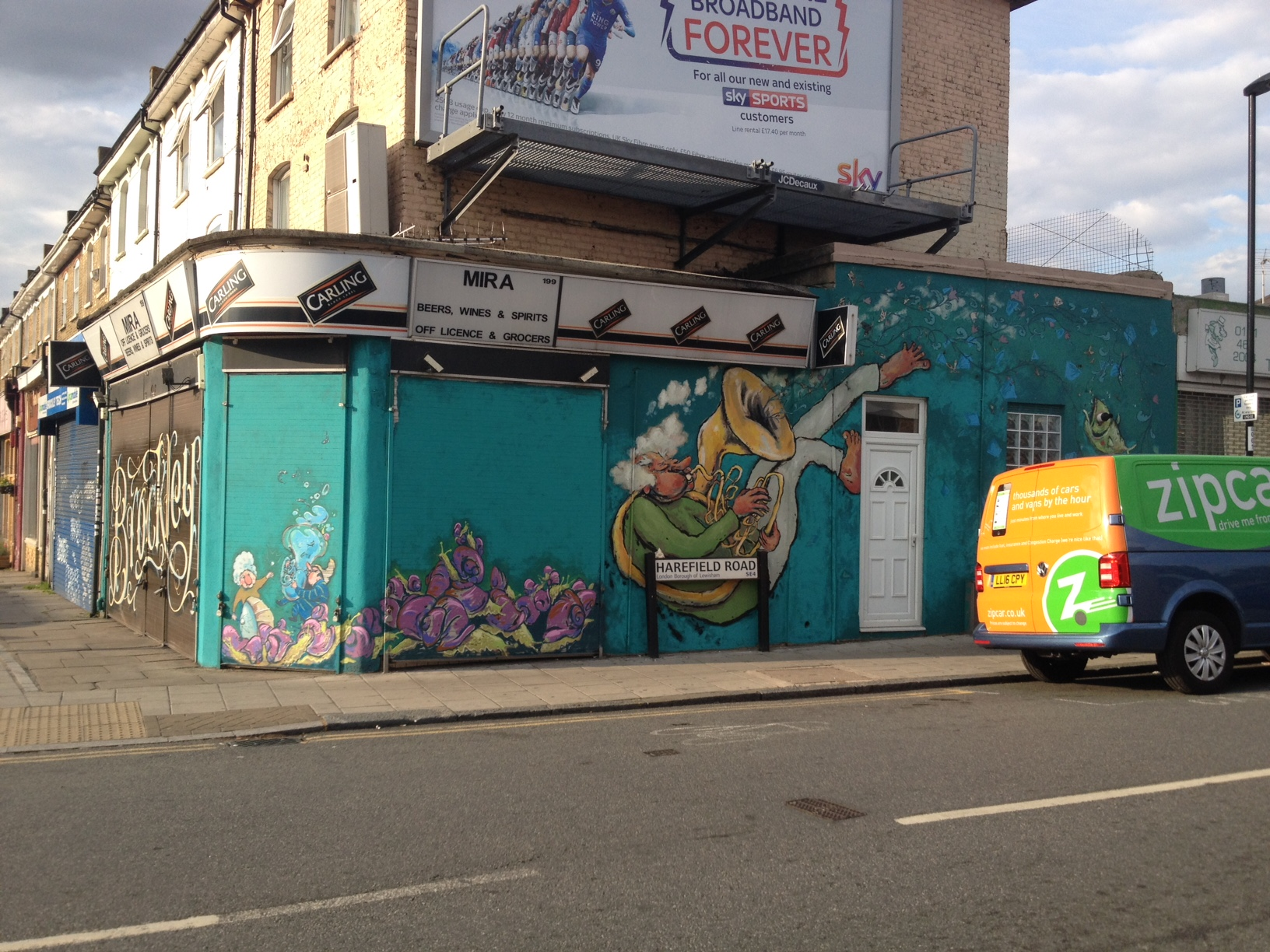 Harefield road mural
