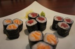 salmon, tuna roll