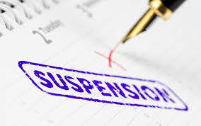 When is it justifiable to suspend?