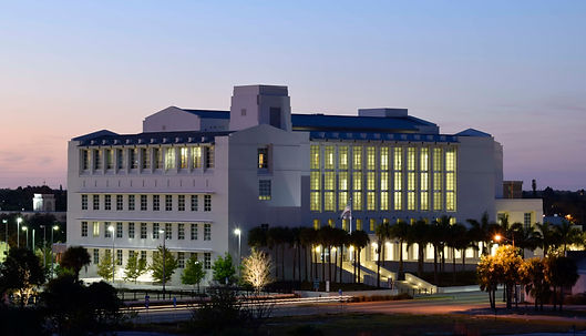 Fort Pierce Courthouse Photograph dusk