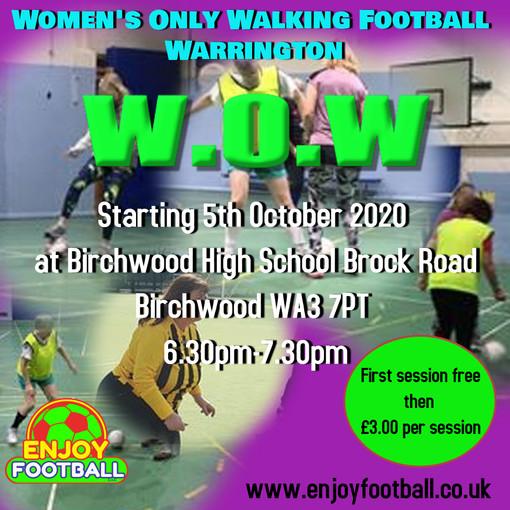 5.10.2020, Women Only Walking Football in Warrington