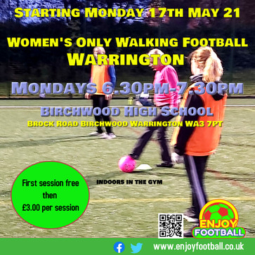 Important Update : Change to Women's Walking Football Session