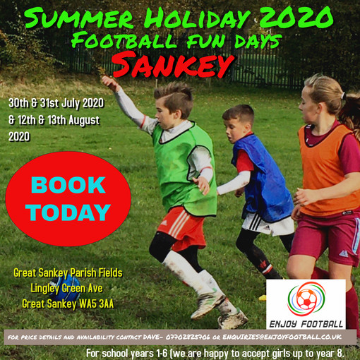 Summer Holiday Football Fun days are back