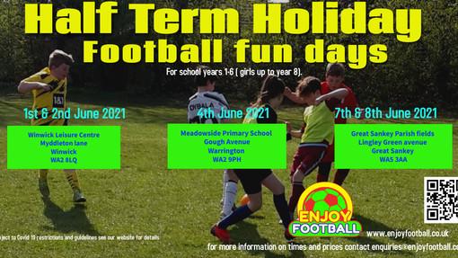School Holiday Football Fun Days June 21