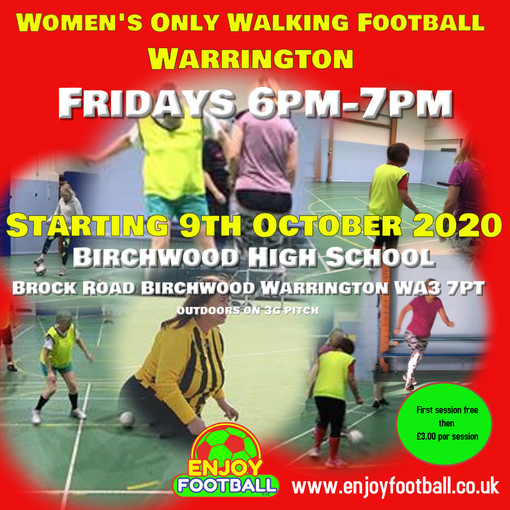 New Walking Football launch dates for Women's only and Penketh Over 60s