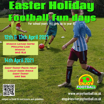 Easter Holiday 2021 Football Fun day