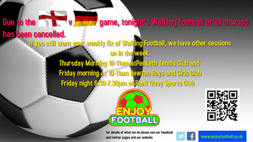 Tonight's session at Birchwood cancelled