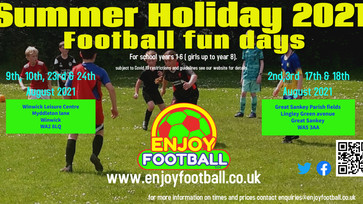 Summer 2021 Football Fun days