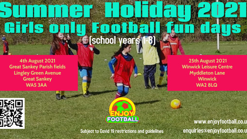 Girls Only Summer Holiday Football Fun Days
