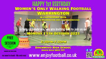 #ThisGirlCan Women's Walking Football 11.10.21