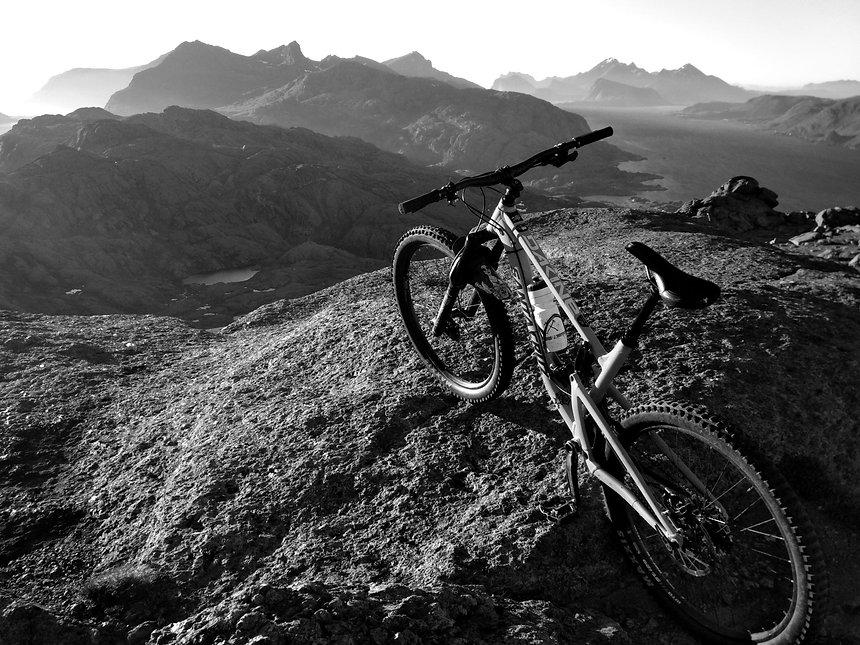 Mountain biking in Lofoten Islands, Norway