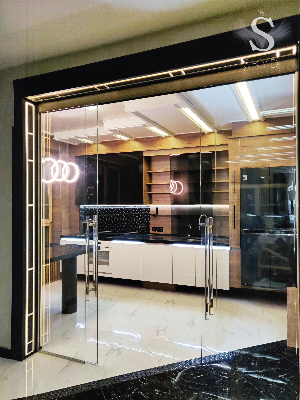кухня SKYDI портал раздвижные двери потолок стены