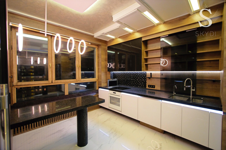 SKYDI кухня оформление окна подоконник