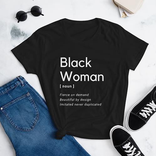 Black Woman Definition short sleeve t-shirt