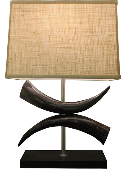 Cow Horn Bow Lamp Base