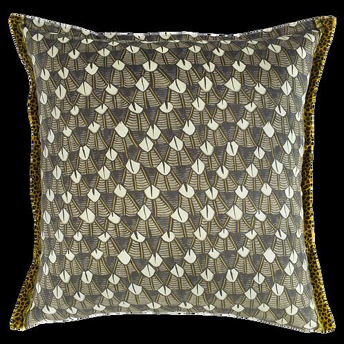 Feather Velvet Silver Ripple Pillow