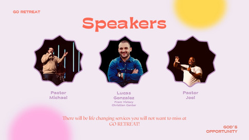 GO RETREAT - Speakers
