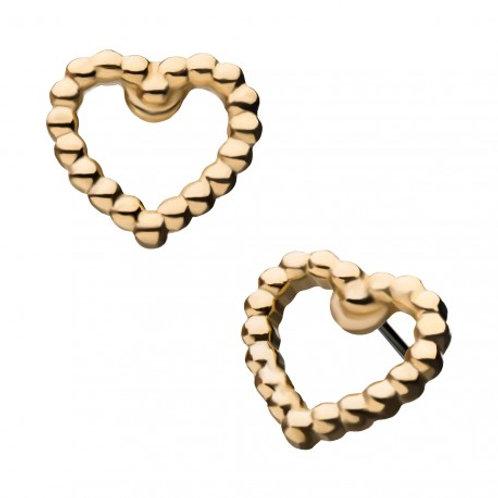 14 KT Gold Threadless Heart