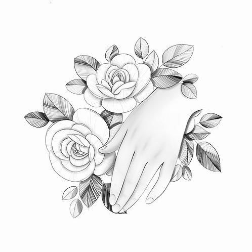 Hand Over Bouquet