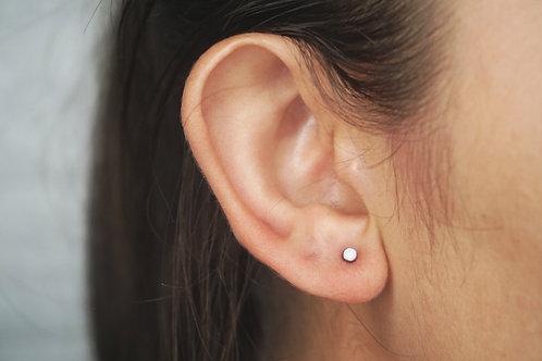 White Opal Earring