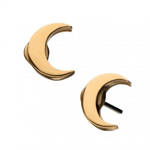 14 KT Gold Crescent Moon