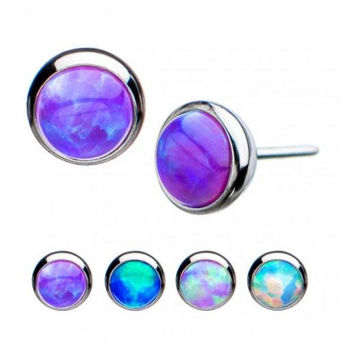 Purple Opal Titanium Threadless