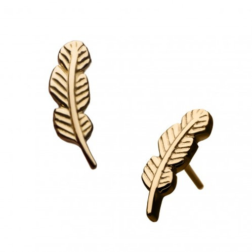 14 KT Gold Feather