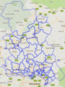 Service Area Map: East Lancashire and North Manchester