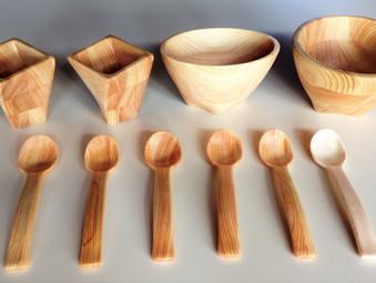 木製食器の試作品
