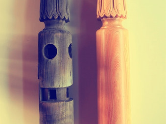 お寺の柱の製作(再現)