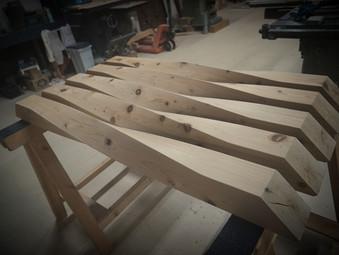 捩れ柱の製作