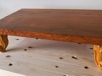 猫脚のローテーブルの製作