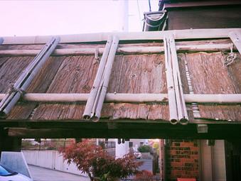 門の屋根の改修