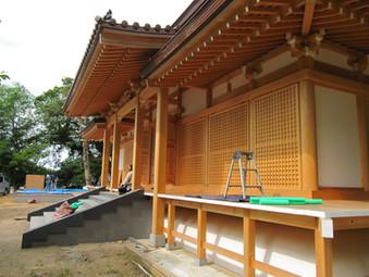 お寺の建具工事2019
