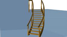 ロシア白樺製のR階段の製作