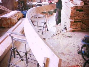 螺旋階段の製作(その1)