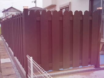 住宅のフェンスの製作
