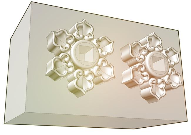 六葉の3Dモデル
