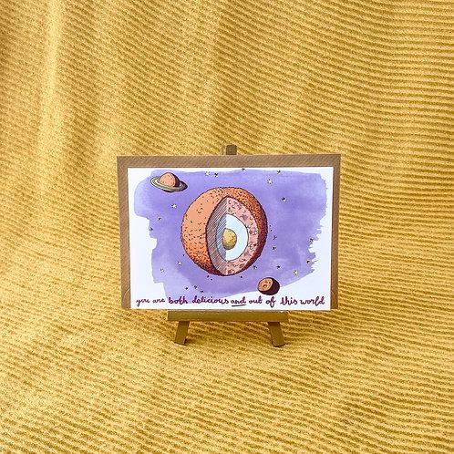 Scotch Egg Planet Greetings Card