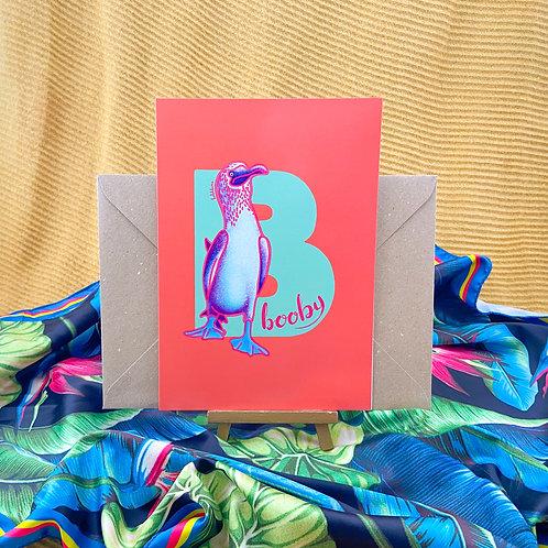 4 Pack Illuminated Animal Alphabet Greeting Cards