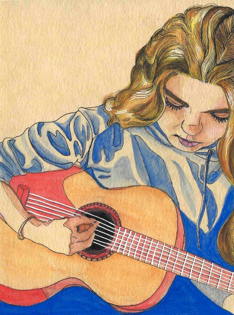Daisy on Guitar