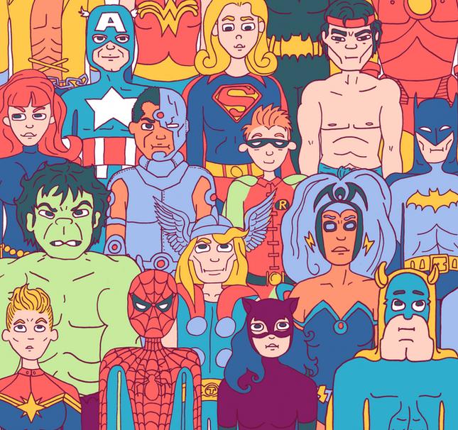 Superhero School Photo