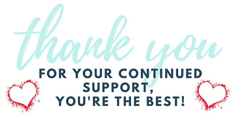 For your continued support you're the be