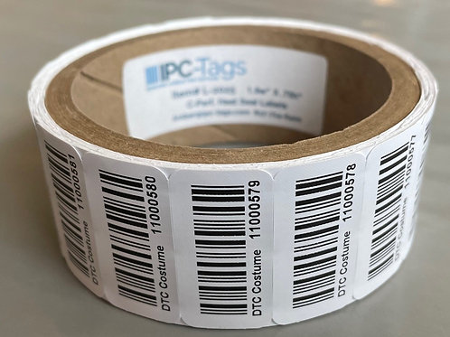 Roll of 1000 Custom Printed Heat Seal Labels-priced per roll for 1 to 10 rolls