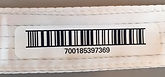 cleanroom fabric with barcode label
