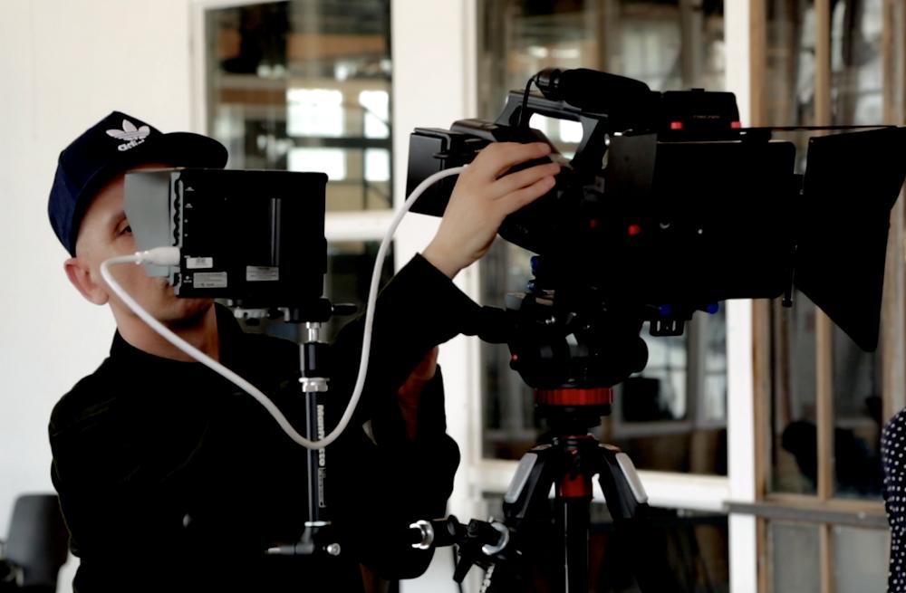 Kameramann am Filmset
