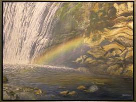 Impresie vody - dúha 80x60cm
