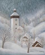Hodruša v zime, Klopačka 53x63cm