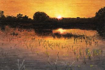 Západ slnka 4 54x42cm